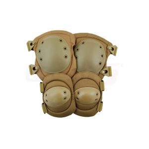 8Fields Knee and Elbow Pads type Alta Systems Coyote front view