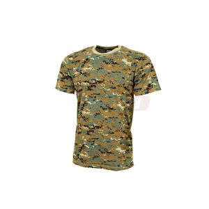 Mil-Tec T-shirt Digital Woodland L