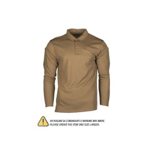 Mil-Tec bluza polo quickdry Coyote L