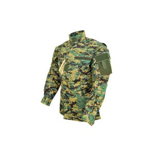 Mil-Tec Jacket Army Combat Uniform Digital Woodland L